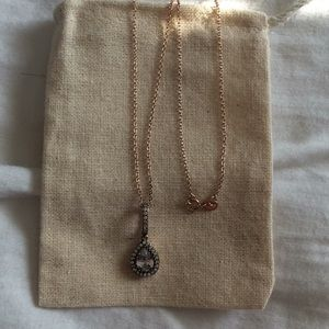 Jewelry - Single Ring Rose Gold Filled Necklace